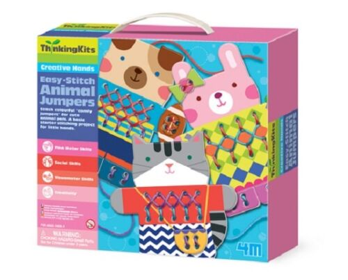 EASY-STITCH ANIMAL JUMPERS CREATIVE HANDS KIDS CRAFT /& ACTIVITY THINKING KITS