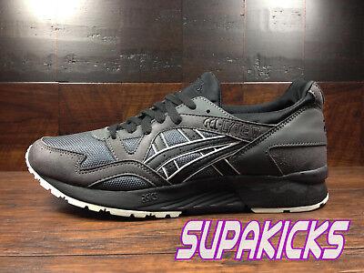 Asics GEL LYTE V 5 (Dark Grey Black) [HN6A4 1690] SUEDE Running Mens | eBay