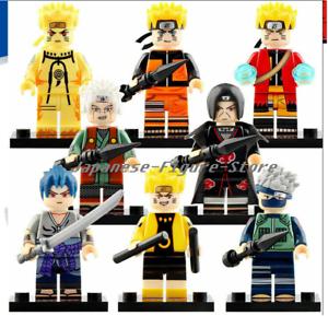 SET 8 Minifigures lego MOC NARUTO KAKASHI SASUKE UCHIHA HOKAGE ITACHI character