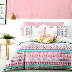 Brampton-House-Kayla-Queen-Bed-Quilt-Cover-Dooner-Cover-Pink-Blue
