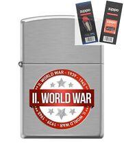 Zippo 200 world war II 1939-1945 Lighter with *FLINT & WICK GIFT SET*