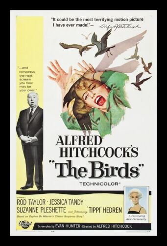 The Birds Movie//Film Print//Poster d1153 Alfred Hitchcock