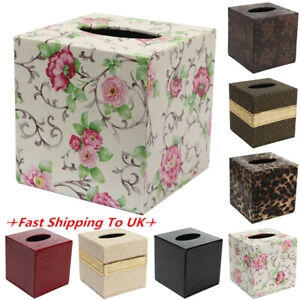 Square-PU-Leather-Home-Room-Car-Hotel-Tissue-Box-Cover-Paper-Napkin-Holder