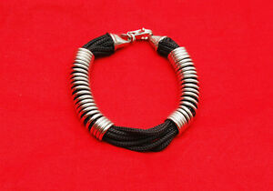Bracciale-tessuto-e-argento-925