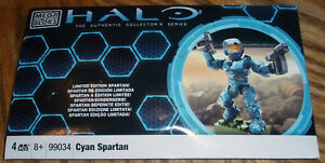 Details about CYAN SPARTAN mega bloks HALO 99034 Limited Edition NEW