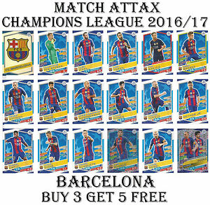 Barcelona Match Attax Champions League 2017 Card S 2016 17