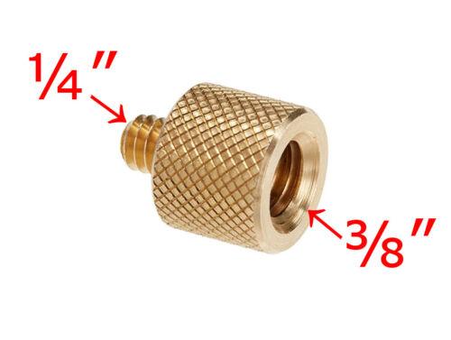 """3//8/"""" hembra a macho 1//4/"""" Adaptador De Rosca Trípode de cámara de tornillo de latón-Reino Unido Stock"""