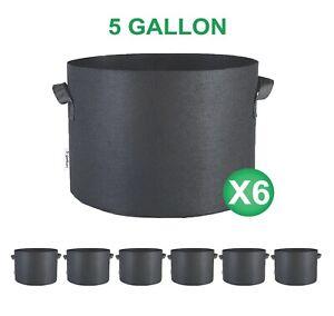 1-2-3-5-7-10-15-20-25-30-45-65-100-Gallon-3-6-12-24-Packs-Fabric-Grow-Bags