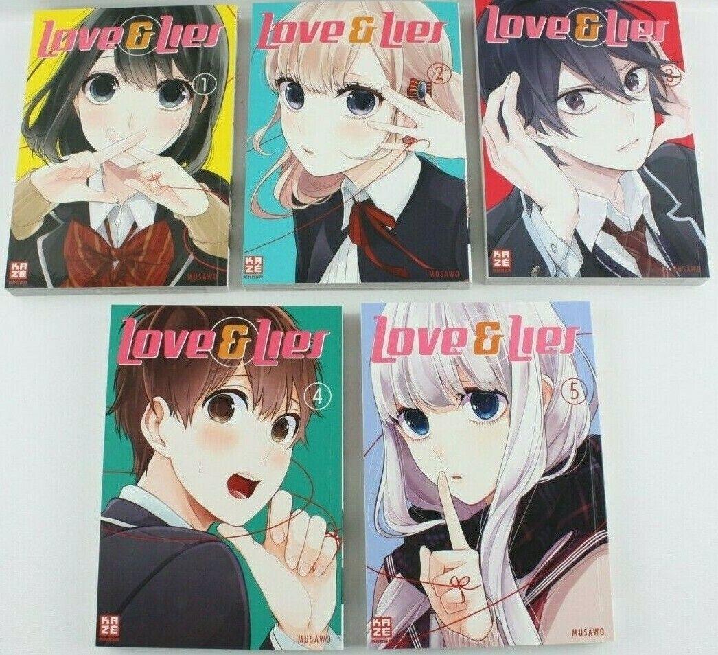 Love & Lies - Romance Manga Bd. 1-5 im Paket - Neuwertig ohne Gebrauchsspuren
