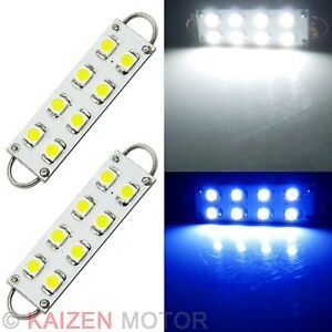 2pcs-Xenon-White-44MM-Festoon-8-SMD-LED-Rigid-Loop-Interior-Dome-Light-Bulbs-23