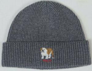 Polo Ralph Lauren Collectable Grey English Bulldog Dog Beanie Hat NWT