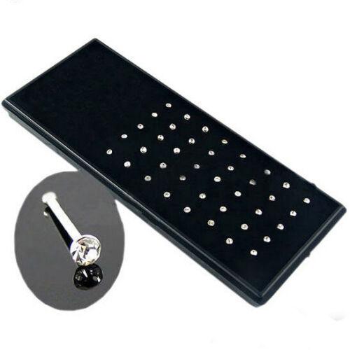 40er Set Nasen Piercing 0,8mm Bunt Silber Nasen Stecker Unisex