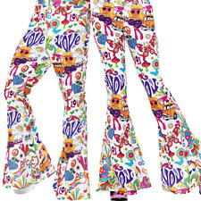 Multi-Coloured - Size 60s Groovy Flared Trousers Mens UK IMPORT COST-M NEW