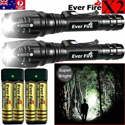 Details about  /4* 350000 Lumens Zoomable LED Flashlight Torch Camping Aluminum Light US Seller