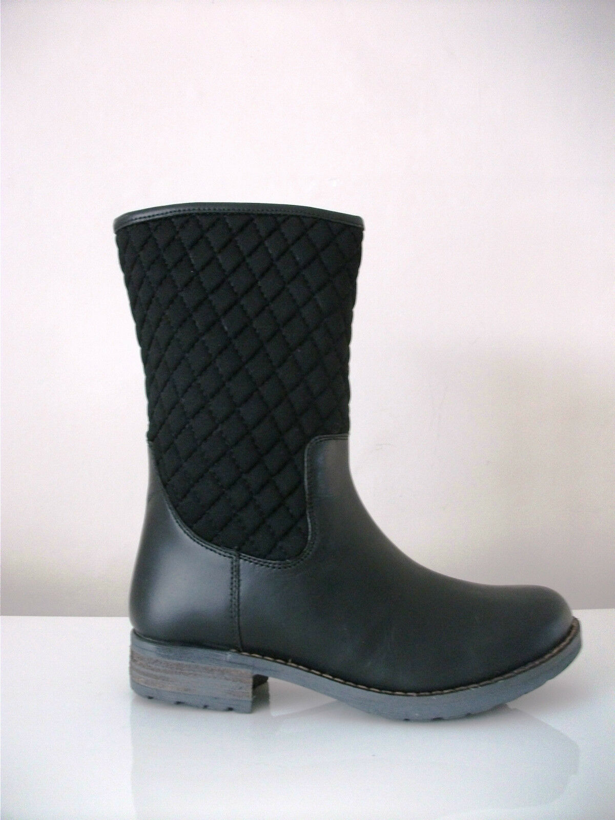 Draper Of Glastonbury Sheepskin Sheepskin Sheepskin Lined Leather Quilted Upper Boots 695bbb