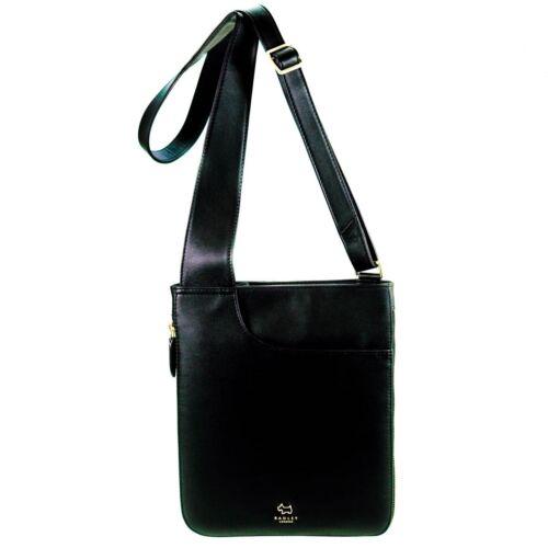 Radley Pocket Bag Black Leather Medium Zip Top Cross Body Bag