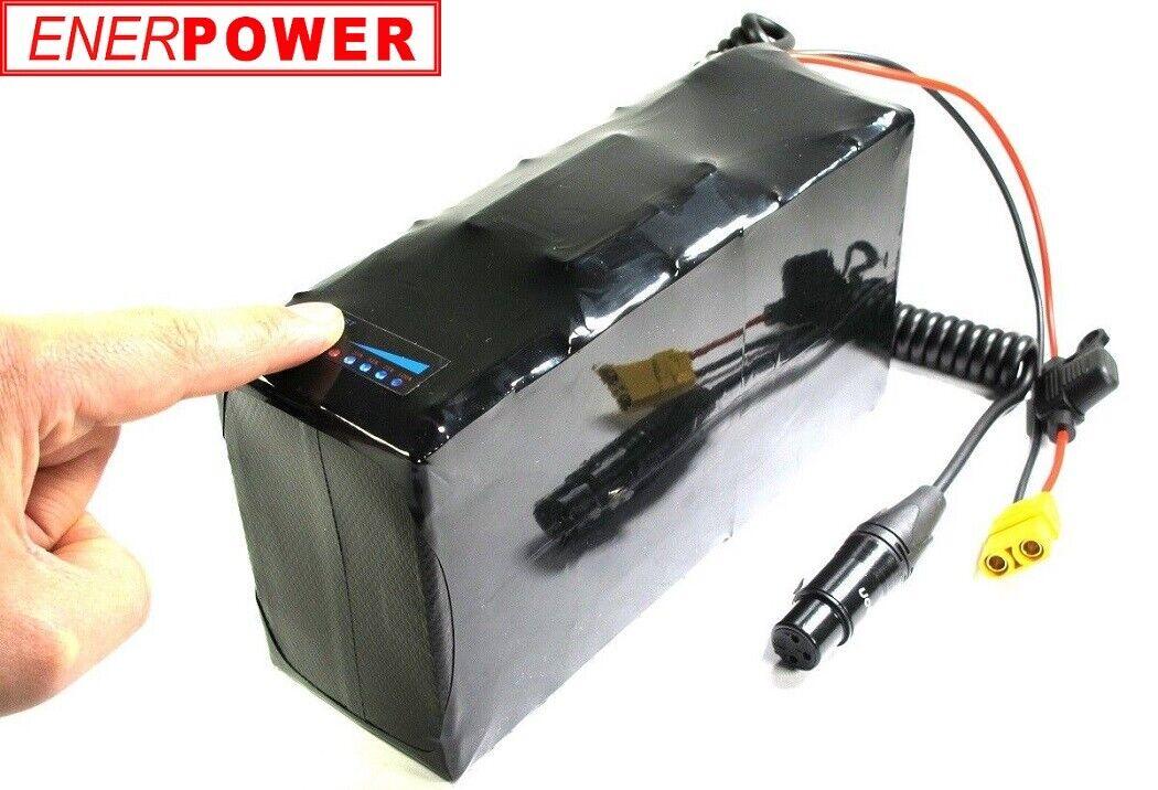 Enerpower Deluxe Batteria LiIon 48V 13S Samsung 29E PedelecBike XLR E LED