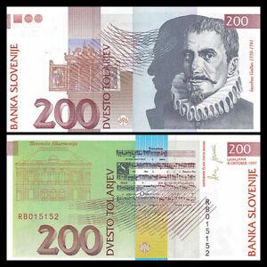 Slovenia 200 Tolarjev, 1997, P-15b, Banknote, UNC