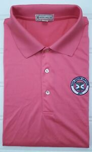 Peter-Millar-Polo-XL-Summer-Comfort-Pink-Salmon-Mens-Golf-Size-Usga-Kinloch-Man