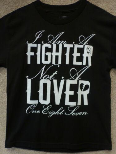 "Black 187 Inc Sullen Boy/'s T-shirt /""Fighter/"""