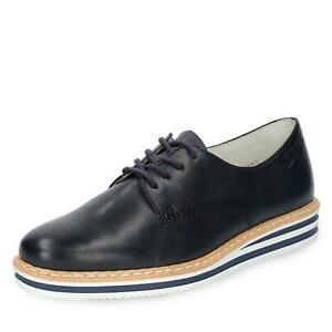Details zu Rieker Damen modischer Schnürschuh Halbschuhe Schnürer Lederschuhe Schuhe blau