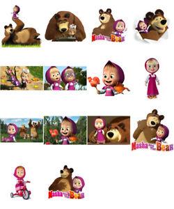 PréVenant Masha And The Bear, Iron On T Shirt Transfert. Sélectionnez L'image Et La Taille-afficher Le Titre D'origine êTre Hautement Loué Et AppréCié Par Le Public Consommateur