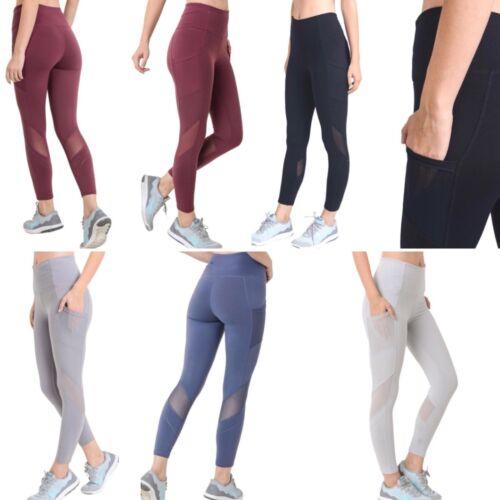 MONO B Yoga Pants with Pockets High Waist Tummy Control Leggings Squat Proof 004