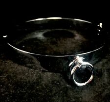 Slave Neck Collar Choker Locking Metal Chrome Plated Bondage BDSM Fetish