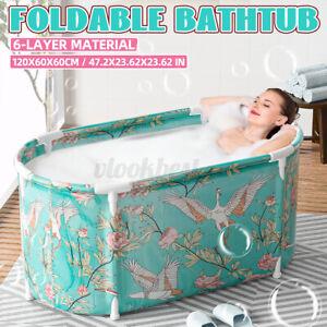 Folding Bathtub Adult Spa Bath Bucket Water Tub Indoor Outdoor Portable Swim #