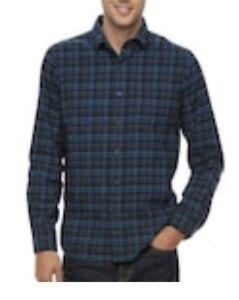 f36db4e10 Big Tall Apt 9 Men s Modern-Fit Plaid Flannel Button-Down Shirt NWT ...