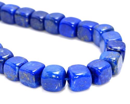 9-10mm Lapis Lazuli Edelstein Klasse AAA Würfel Einzelne Perlen 17.8cm