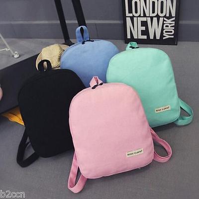 Women Girl Canvas School Bag Travel Backpack Cute Satchel Shoulder Bags Rucksack