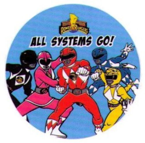 """Power Rangers All Systems Go 3/"""" Button PB4539-3"""