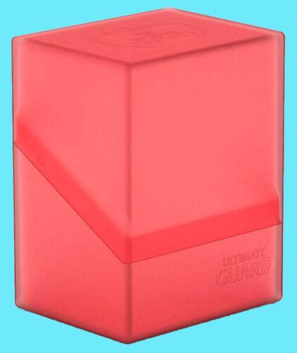 ULTIMATE GUARD BOULDER RUBY Standard Size DECK CASE 80 NEW Card Storage Box MTG