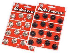 20-mm-Metall-Druckknoepfe-Druckknopf-auf-Pappe-Koh-i-noor-Gr-8-zum-annaehen