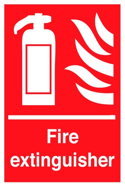 FIRE EXTINGUISHER SIGN - HEALTH AND SAFETY SIGN IN RIGID PVC WATERPROOF