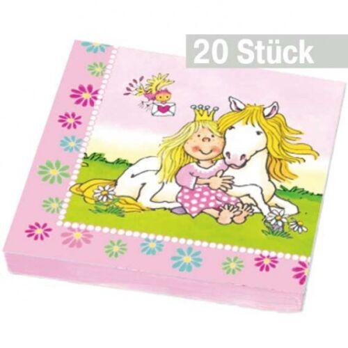 Servietten für Mottoparty Prinzessin 20 Papierservietten