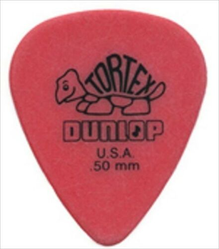 Dunlop Guitar Picks  72 Pack  Tortex  .50 MM  Red 418R50