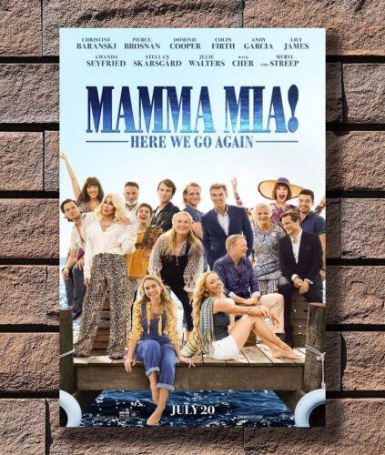 Here We Go Again Movie Musical Film Poster Hot Gift 24x36 P3701 Art Mamma Mia