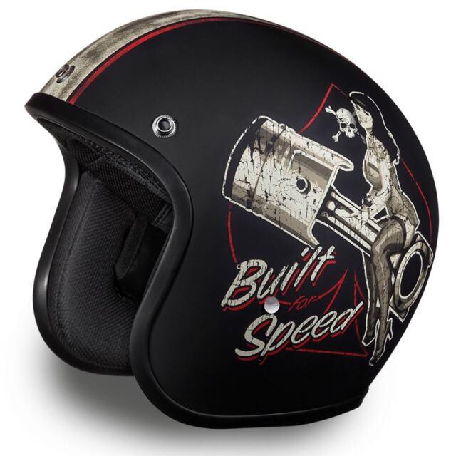 Daytona Helmets Cruiser Open Face - Built For Speed - Motorcycle Helmet DC6-BFS