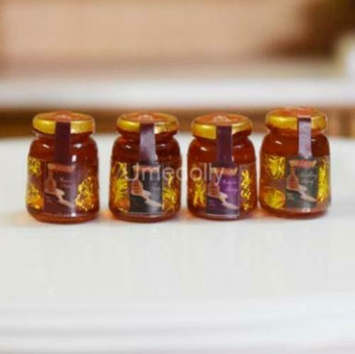 4PCS 1:12 Dollhouse Miniature Food Mini Accessories Toy Kitchen Doll Barbi
