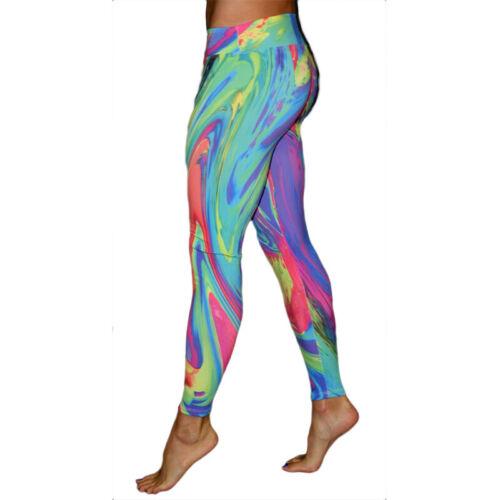Womens Tie dye Yoga Pants Leggings Fitness Workout Gym Sport Running Trousers UK