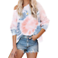 Women-Off-Shoulder-Tie-Dye-Pullover-Blouse-Casual-Long-Sleeve-T-shirt-Baggy-Tops thumbnail 6
