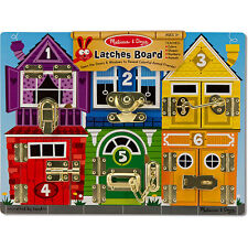Melissa & Doug Latches Board Montessori A Classic PreK Wooden Toy