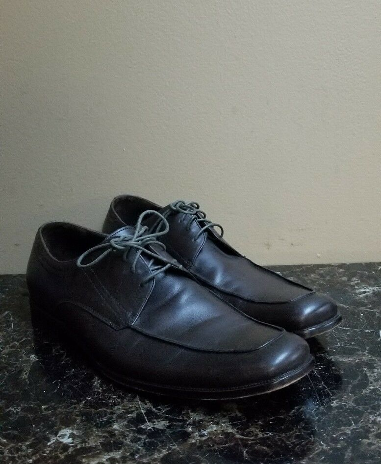 Hugo Boss Collection Uomo Italy Dark Brown Pelle Oxford Dress Shoes Sz 11.5 US