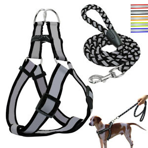 Reflective-Step-in-Dog-Harness-Lead-Set-Quick-Fit-Puppy-Vest-for-French-Bulldog
