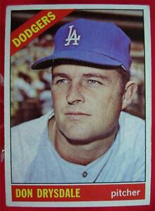 DON-DRYSDALE-1966-TOPPS-BASEBALL-CARD-430-LOS-ANGELS-DODGERS