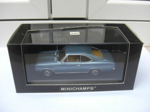Opel Rekord C coupe 1966 bluee met Minichamps 430046120 MIB 1 43 kadett VERY RARE