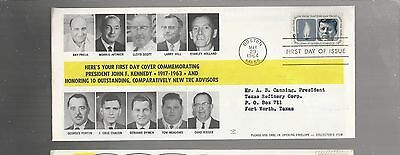 US FDC FIRST DAY COVERS # 1246 JOHN F KENNEDY 1964  BY TEXAS REFINERY CORP