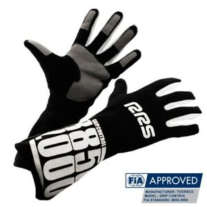 RRS-Grip-control-racing-gloves-FIA-approved-hill-climb-rally-BLACK-size-10-L